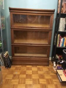 """Antique """"lawyers"""" bookcase from early 1900's"""