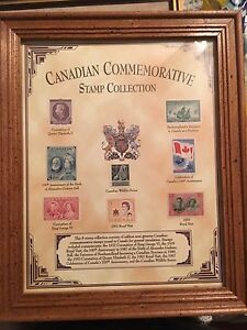 Framed Canadian Stamp collection