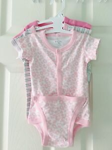 BNWT baby diaper shirt onesies 9m Pink one piece bodysuit cloth