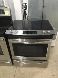 Mint Kenmore stainless glass top stove