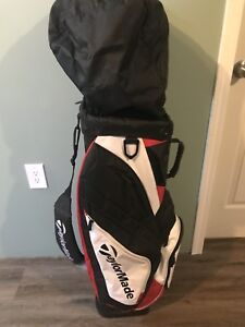 Taylormade MENS RH golf clubs and Bag