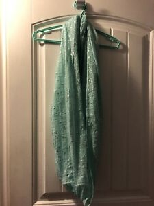 Teal infinity scarf