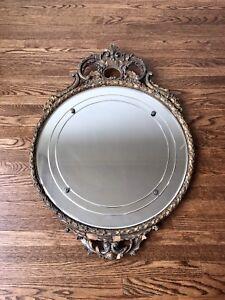 Antique RARE Wood Mirror Art Nouveau Wall Deco Victorian Vintage