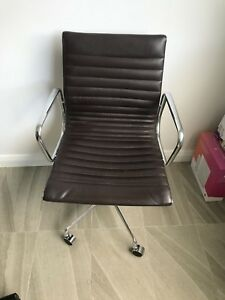 brown leather eames replica office chair office chairs gumtree rh gumtree com au