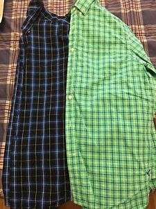 American Eagle button up shirts Size LG