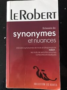 Dictionnaires des synonymes