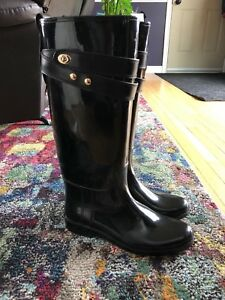 COACH Ladies Tall Rubber Boots