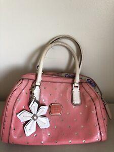 Guess pink flower purse