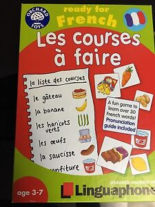 French grocery card game for kids