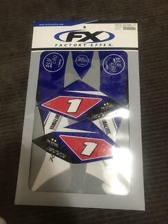 Yamaha team factory sticker kit for 50cc quad