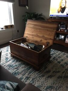 Solid wooden cedar chest