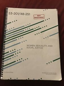 Women, Sexuality and Social Justice Textbook