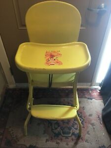 Vintage Metal High Chair