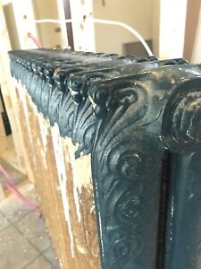 6 Cast Iron Radiators (Patterned Finish, claw foot)