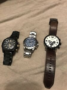 Fossil and Guess mens watch