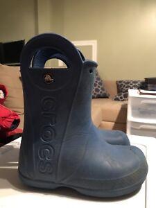 Crocs rain boots- size 11