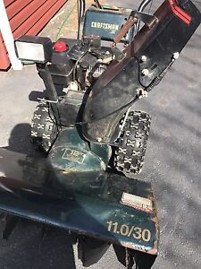 Working snowblower with damaged traction drive