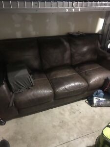 4 Piece Leather Couch Set