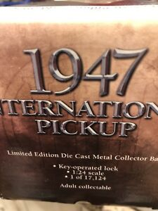 Collectible 1947 International pick up truck Limited Edition