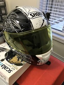 Shoei helmet and yellow visor