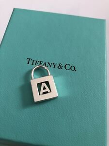 Authentic Tiffany and Co charm letter A