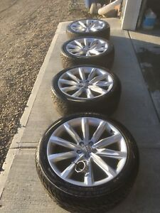"""Audi Rare 19"""" Rims with ZR rated Tires"""