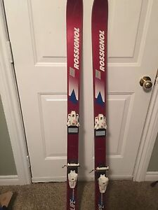 Skis with bindings
