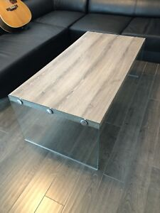 SOLD - Coffee Table glass legs great condition