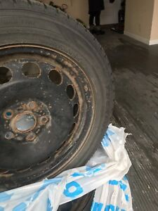 Set of 4 Winter tires for sale (as is)