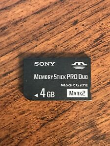 Sony Memory Stick Pro Duo Excellent Condition!