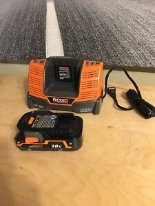 Ridgid 18Volt Battery with charger.