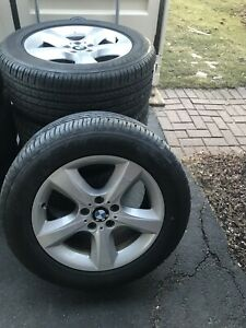 4 BMW X5 OEM RIMs and new tires