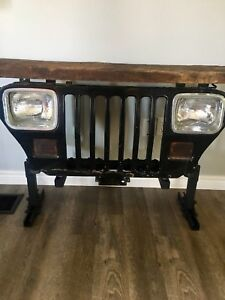 Jeep YJ Grill Console Table/Bar