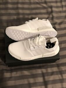 All White Adidas NMD R1 Size 9 men's