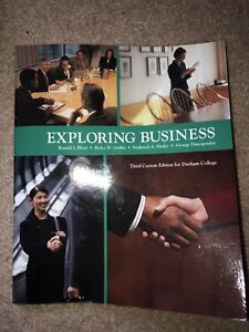 Exploring Business third custom edition for Durham college
