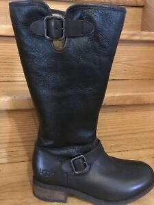 UGG Leather Winter Boots with Wool Interior.