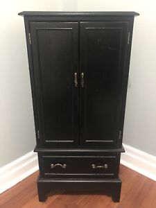 Bombay dark solid wood jewellery cabinet