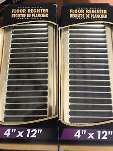 Brass Floor Registers 4x12