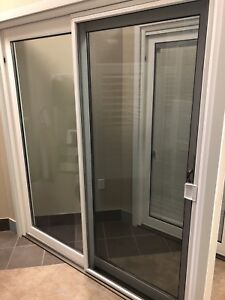 6 ' wide Sliding PVC Patio Door. Read description