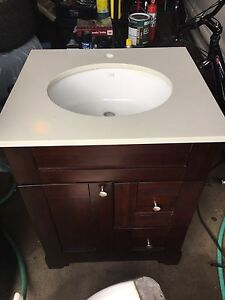 "Used vanity with sink - 25"" wide"