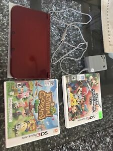 New Nintendo 3ds xl red limited edition w stylis