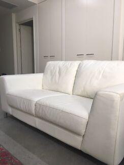 White leather Brescia Furniture Lounge