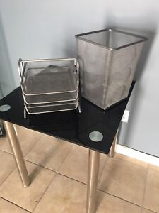 Garbage can and file organizer