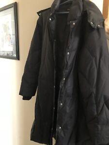 Down filled Black Coat.