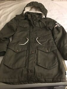 Girls winter   Parka army green size 9