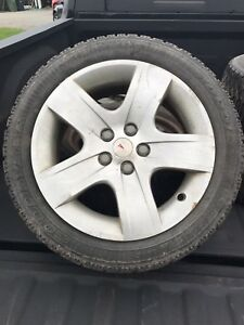 4x225/50R17 Good Year Nordic Winter Tires w/Rims & hubcaps