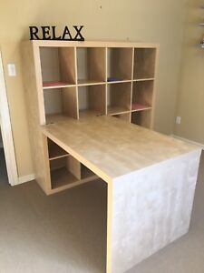 IKEA Kallax Desk Combination in Birch