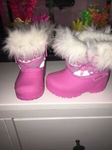 Baby Girl size 3 pink winter boots