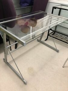 3pc L shaped glass desk for sale!
