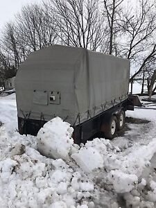Covered utility trailer Can add cash for 4x4 ATV